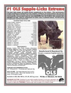 #1 OLS US livestock feed mineral Supplement