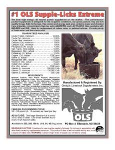#1 OLS US livestock feed mineral Supplement