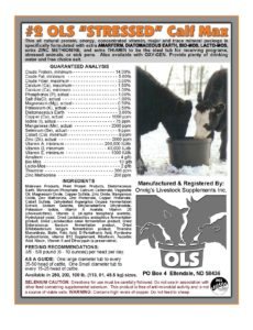 #2 OLS US calf mineral Supplement