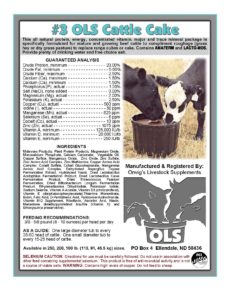#3 OLS Cattle Cake US Supplement
