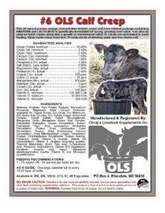 #6 OLS US Calf Creep Supplements